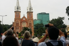 Cathedral, tourists